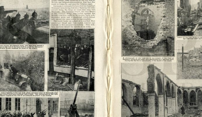 1914 WW1 Magazine DIKSMUIDE Harderwyk Internment Camp KRAKOW POLAND War (5100)